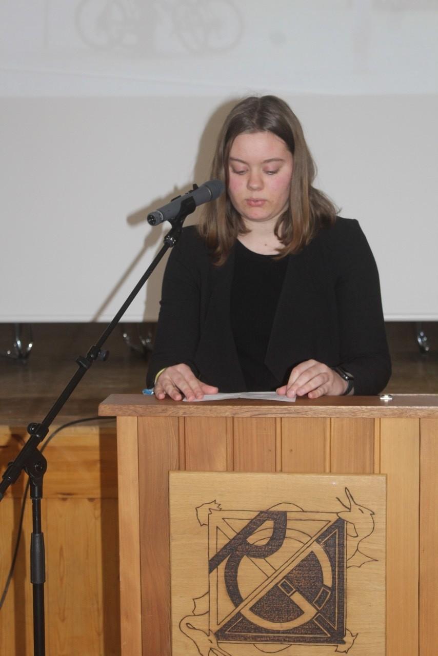 Hanna Zoike am Rednerpult