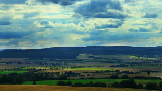 Blick über die Dörfer